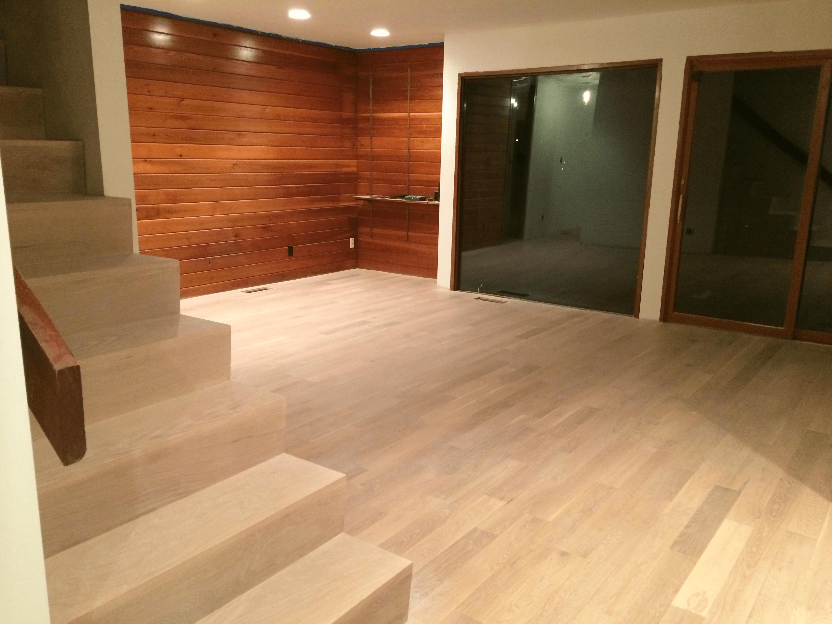 White Oak Finished With 3 Step Zero VOC Lye Finish