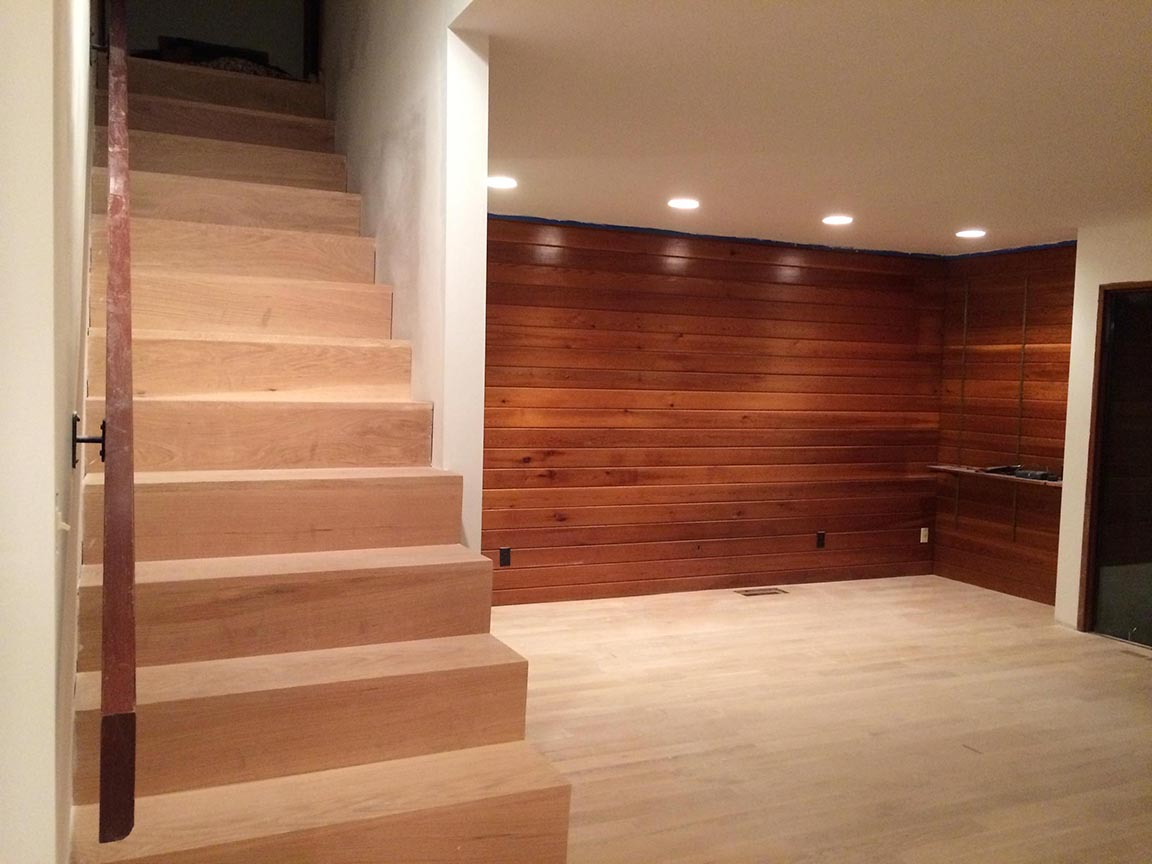 Newly Installed Unfinished Solid White Oak